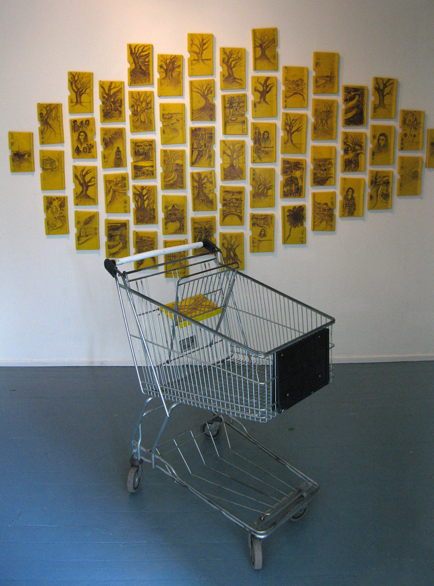 Kärrytaidetta/Trolley business, installation view: Haihatus, Joutsa, Finland 2006